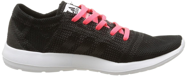 Adidas (Core Element Refine Tricot Damen Laufschuhe Noir (Core Adidas schwarz/Core schwarz/Flash ROT) a1b474