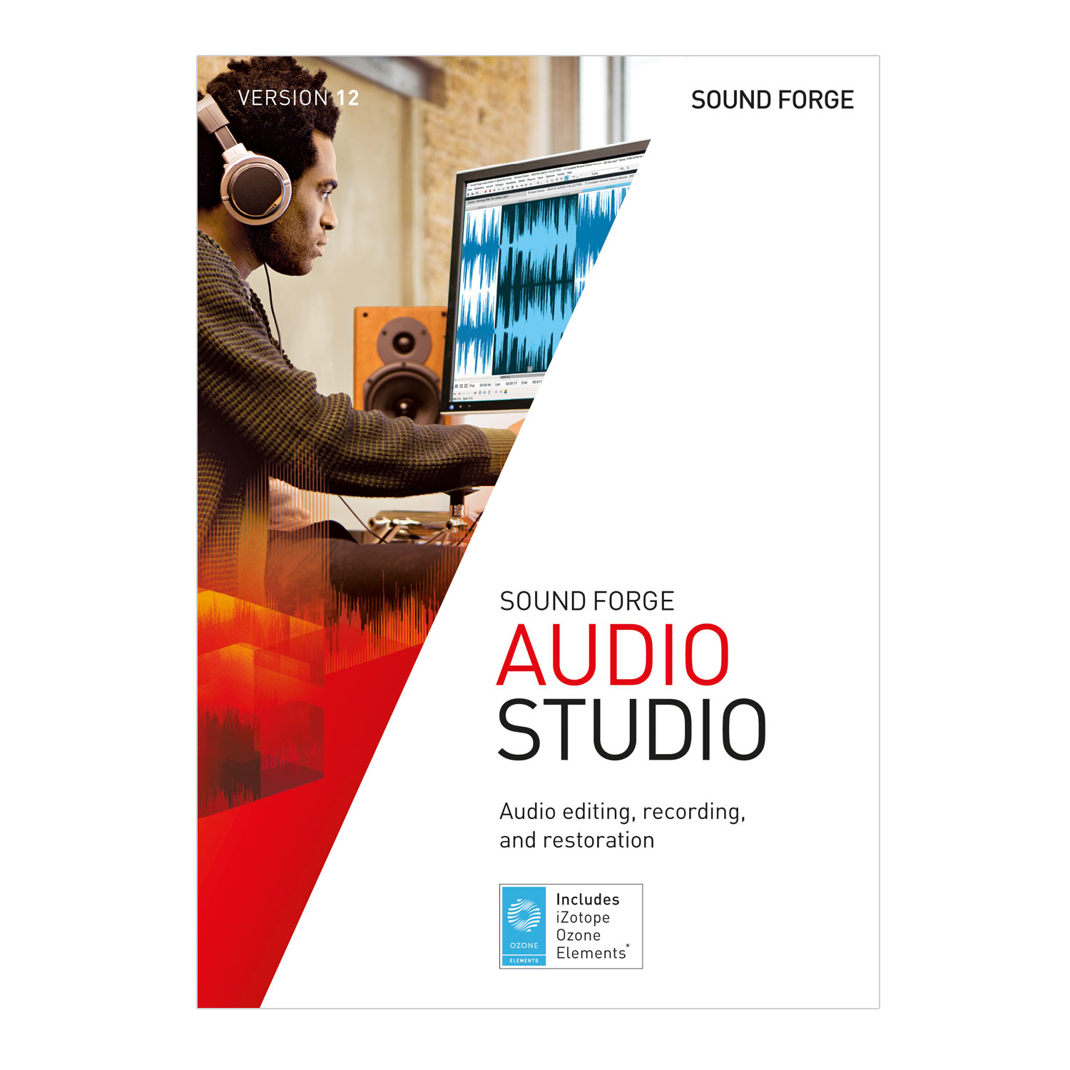 SOUND FORGE Audio Studio – Version 12 – audio editor including mastering plug-in. [Download] (Professional Audio Editing Software)