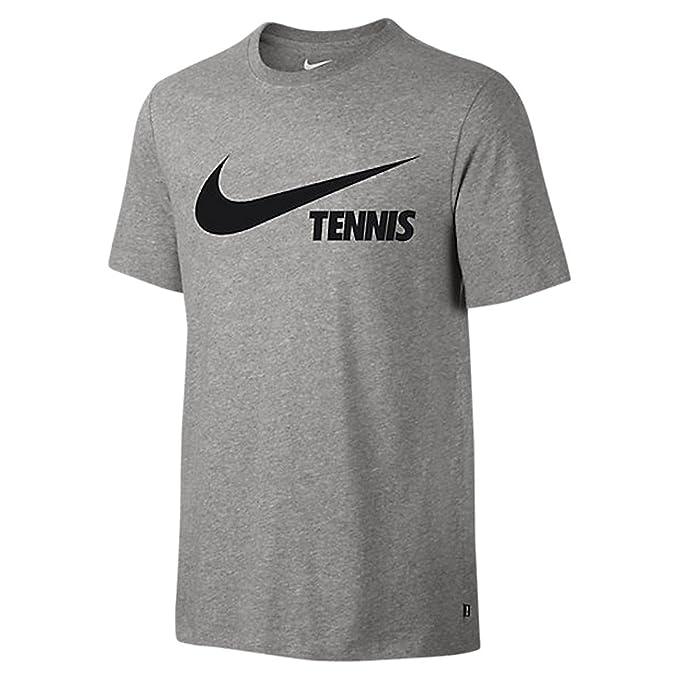 a0d19c959d716 Amazon.com: Nike Men's Swoosh Tennis Tee (Large, Dark Grey Heather ...