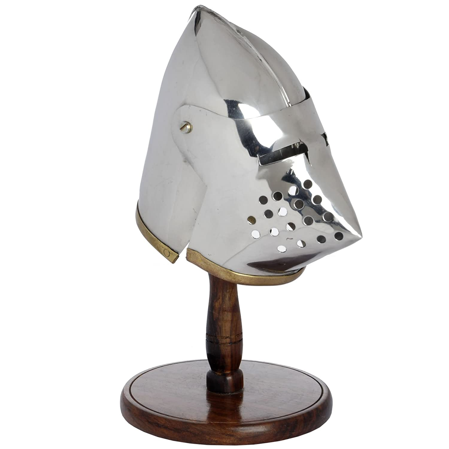 Hill Interiors Mini Pigface Helmet With Stand (One Size) (Silver) UTHI982_1