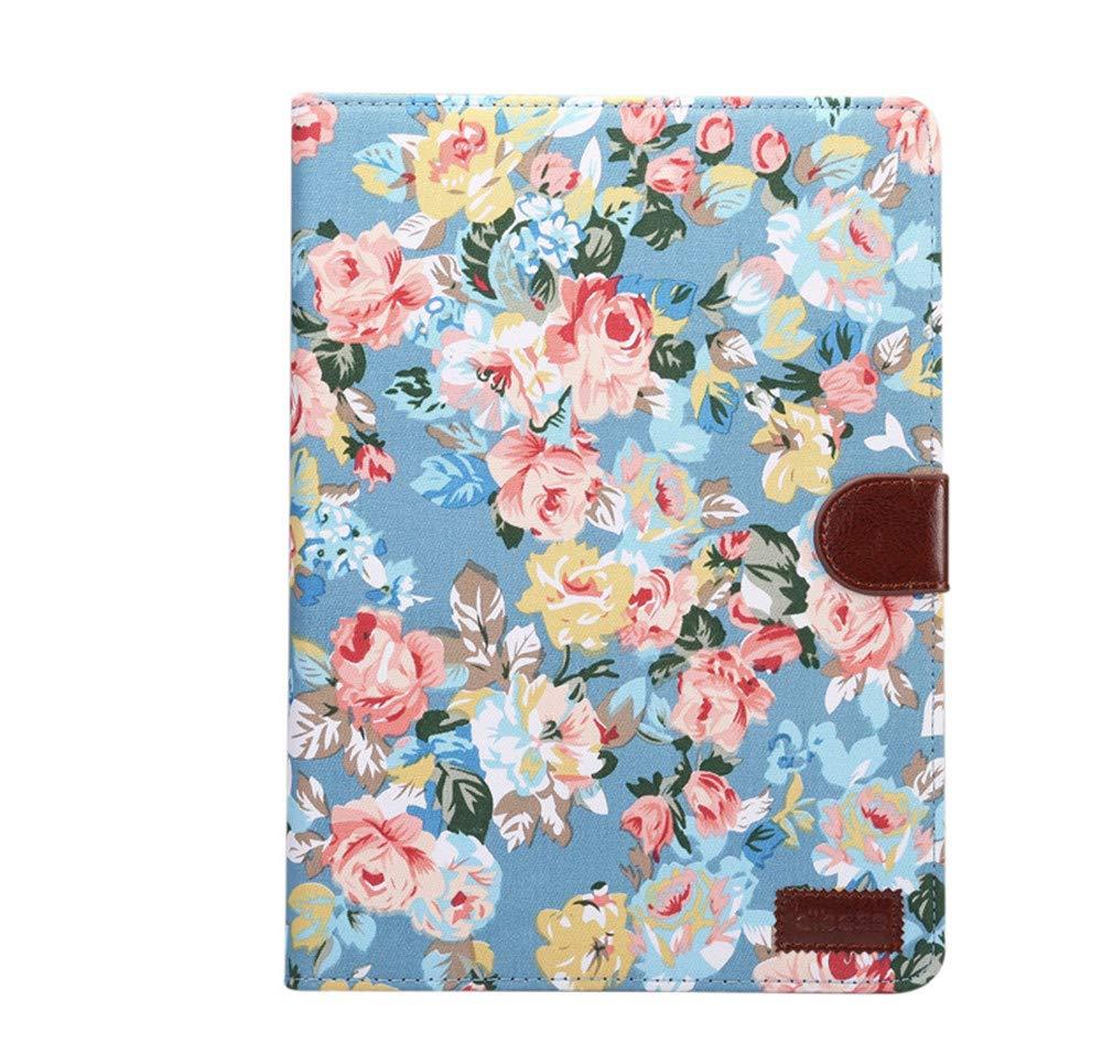 iPad Mini2, iPad Mini, iPad Mini 3 Protective Business Case, Vintage Retro Flower Pattern, Luxury PU Leather Case with Card Holders, Money Pockets, Folio Stand Case Cover - Black