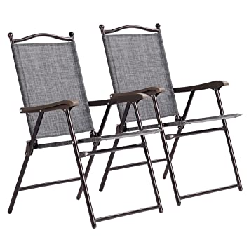 Amazon.com: 2 sillas plegables para patio, plegables ...