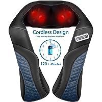 MaxKare Draadloos massageapparaat nek schouder rug Shiatsu nekmassageapparaat met warmtefunctie 3D-rotatie elektrische…