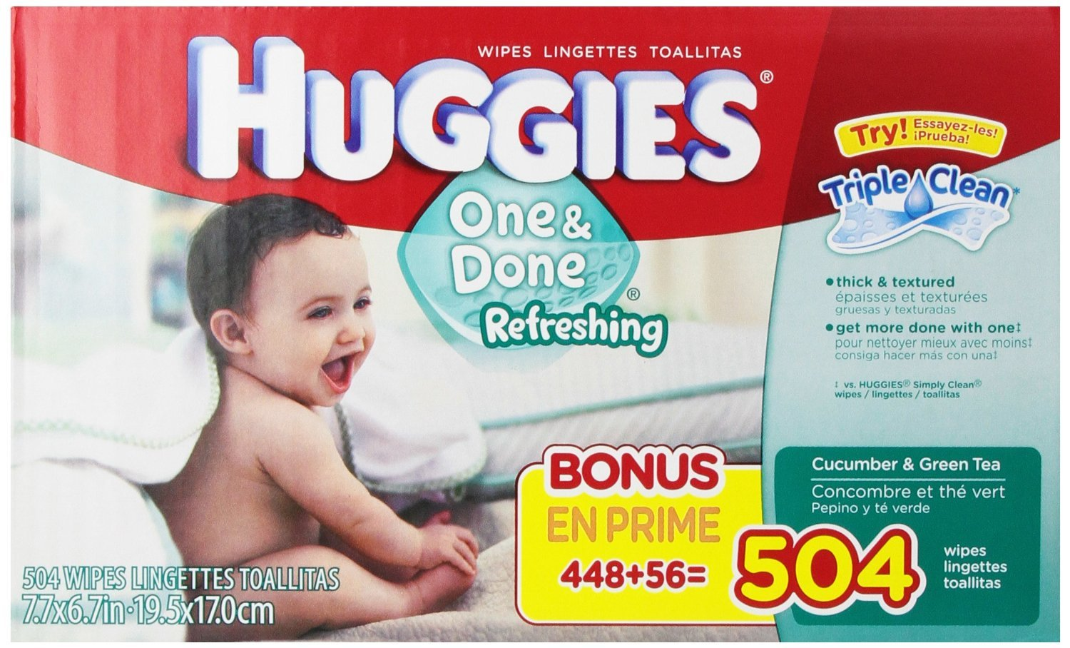Huggies One and Done Refreshing Baby Wipes,Cucumber & Green Tea, Refill, 504 Count by Huggies: Amazon.es: Salud y cuidado personal