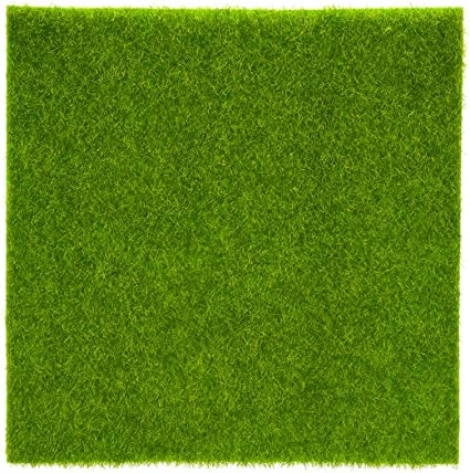 UK Artificial Grass Mat Fake Lawn Synthetic Pads Rugs Dollhouse Miniature Decor