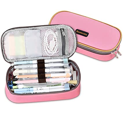 222f823786ad Homecube Pencil Case Big Capacity Storage Oxford Cloth Pen Bag Makeup Pouch  Durable Students Stationery with Double Zipper Pen Holder for ...