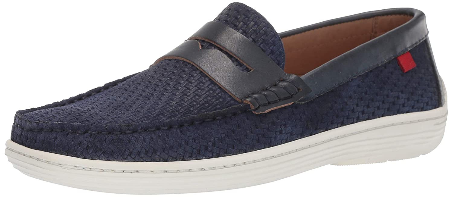 Navy Basket Suede Marc Joseph New York Men's Mens Genuine Leather Atlantic Loafer Driving Style Loafers