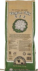 Down to Earth Organic Vegan Fertilizer Mix 3-2-2, 25 lb