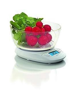 Laica KS1019 Balanza de Cocina electrónica, Cristal, Blanco: Amazon.es: Hogar