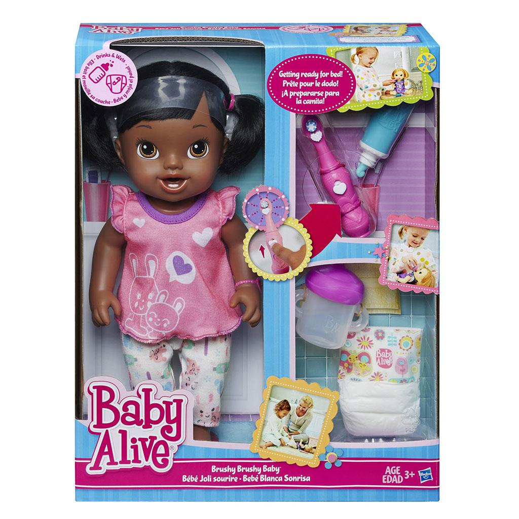 Amazon Com Baby Alive Brushy Brushy Baby Doll African