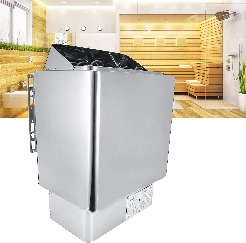 Deryang Estufa de baño, Seca con Controlador Externo, Calentador de Sauna de 3KW 220V, baño para Sala de Vapor, Sala de Sauna, SPA