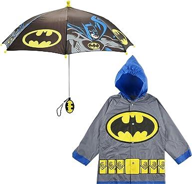 Toddler DC Comics Little Boys Batman Waterproof Outwear Hooded Rain Slicker