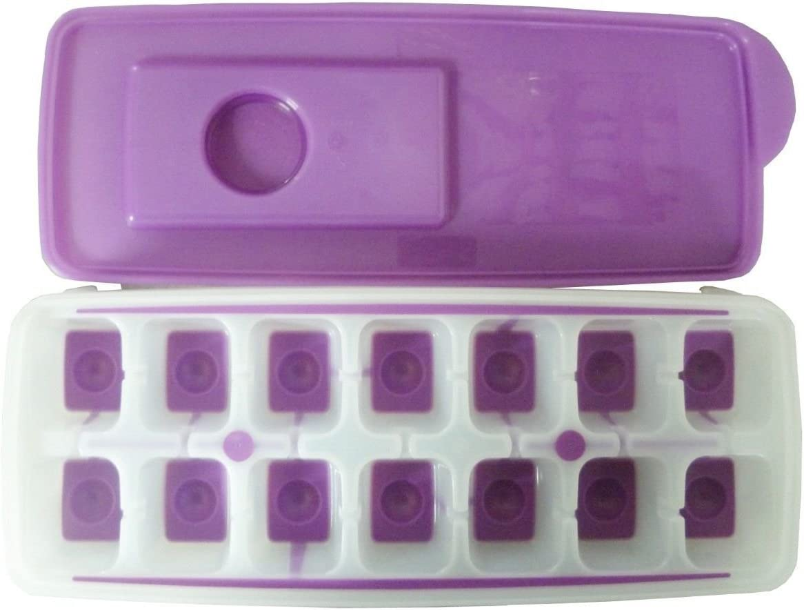 4 X New Tupperware Cool Ice Cube Plastic Tray with Opening Lid Contain 14 Cubes HerbalStore/_24*7