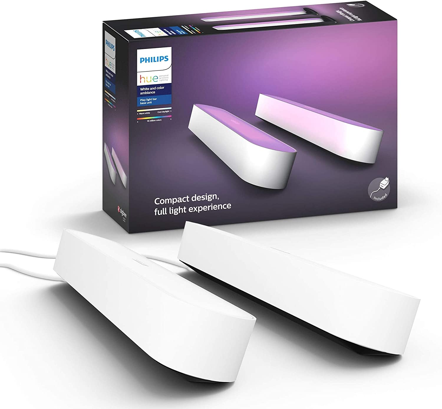 2 X PHILIPS HUE White /& Colour Ambiance Smart LED BulbsE27Twin Pack