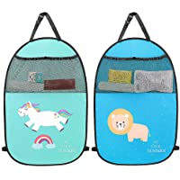 Kick Mats 2 Pack Car Seat Back Protector Cover for Kids with Organizer Storage Pocket. Waterproof Seat Back Cover…