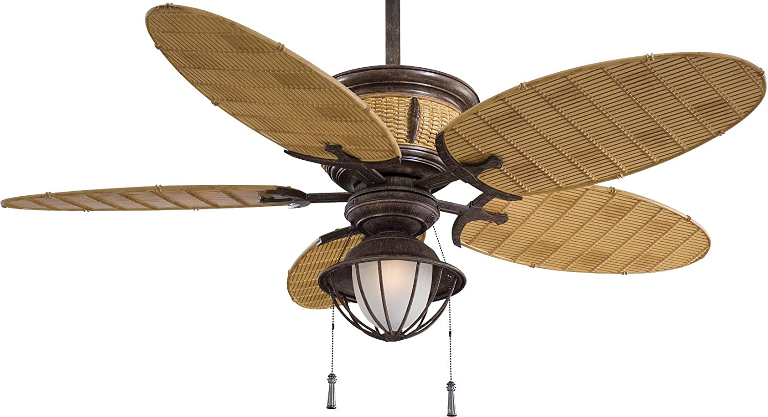 minkaaire f580vrbb shangrila vintage rust 52 inch outdoor ceiling fan with light amazoncom - Minka Aire Fans
