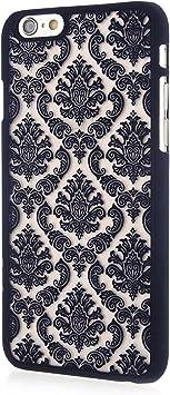 Coque iPhone 6/6s, Baroque Retro Court Lace Pattern Texture Etui ...