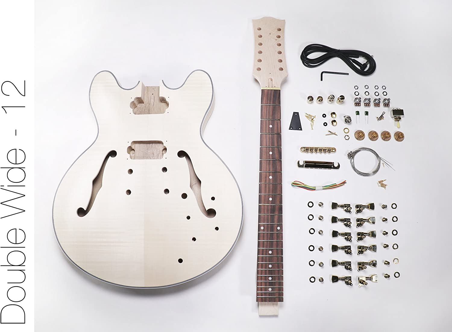 DIY Kit de guitarra eléctrica? 335 estilo construir tu propio kit ...