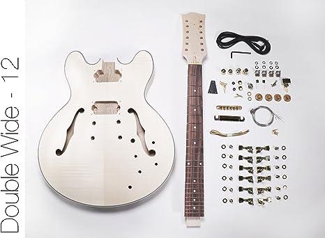 DIY Kit de guitarra eléctrica? 335 estilo construir tu propio kit ...