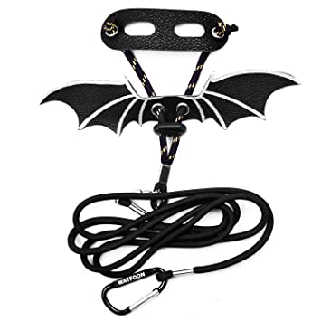 Watfoon Lizard Leash Ultra Comfort Leather Harness With Cool Wings