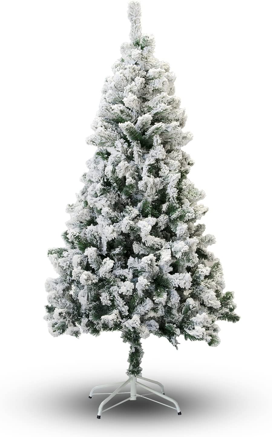 Amazon Com Perfect Holiday Christmas Tree 6 Feet Flocked Snow Home Kitchen