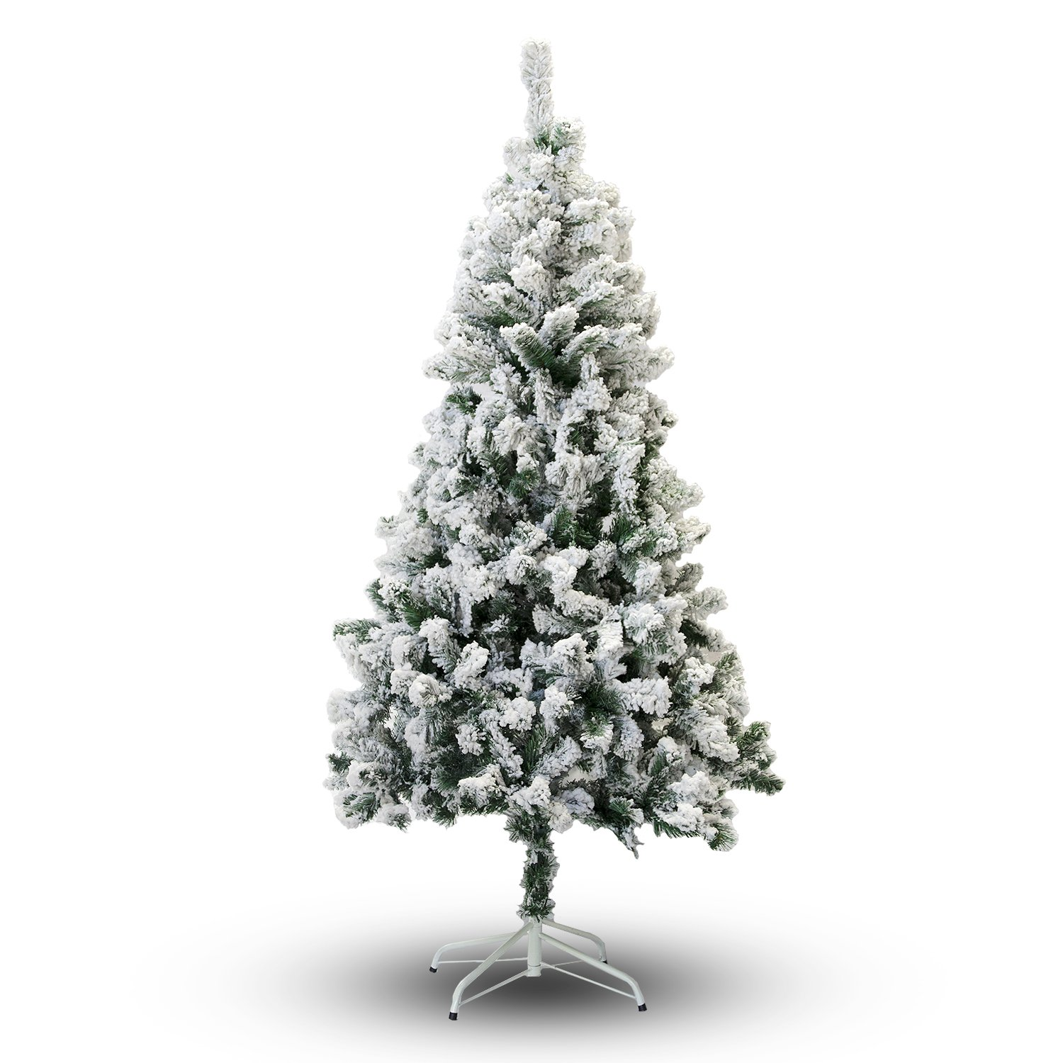 amazoncom perfect holiday christmas tree 6 feet flocked snow home kitchen - Fake Snow For Christmas Trees