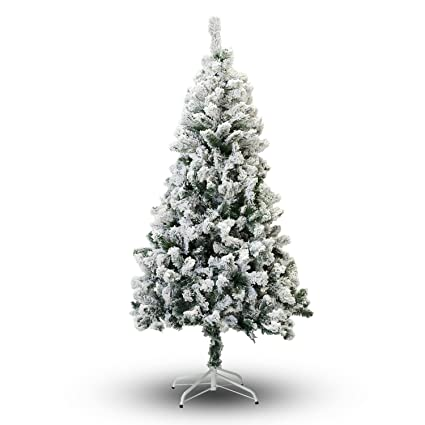 perfect holiday christmas tree 6 feet flocked snow - Amazon White Christmas Tree