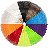 3D Pen Filament 1.75mm PLA Filament Refills Pack 10 Colors 5m Each