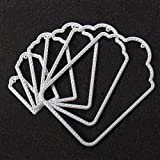 Joy!Crafts Cutting Stencil Label Tag 6 Pieces Silver