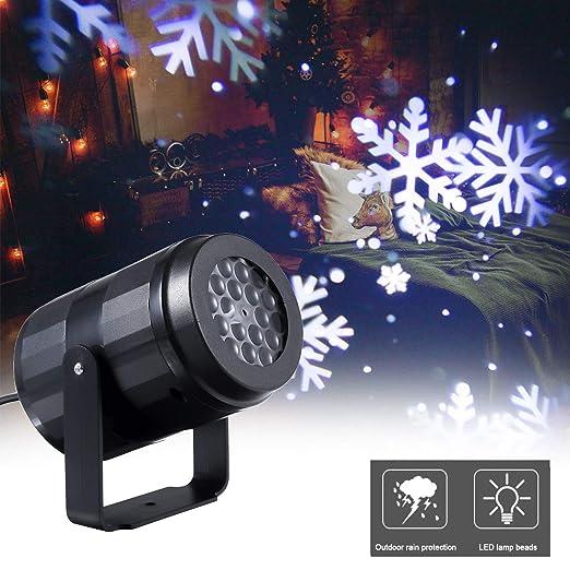 Galapara Proyector de Luces Navidad, LED para Copos de Nieve, LED ...
