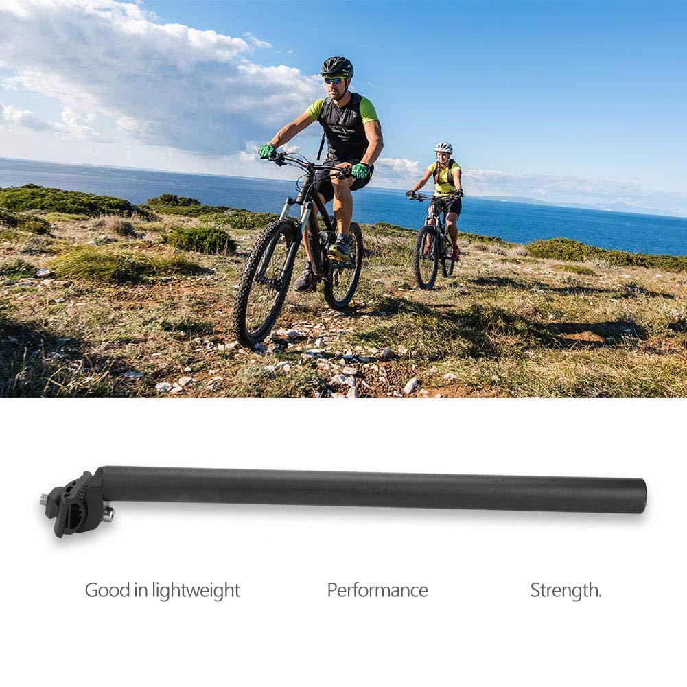 Cosiki Tija de sill/ín de tija de sill/ín de Bicicleta 27.2 * 450mm-Negro 4 tama/ños Tija de sill/ín de Bicicleta Tija de sill/ín de Bicicleta de aleaci/ón de Aluminio MTBRoad