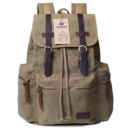 148 opinioni per BLUBOON Tela Zaini Vintage Zaino Uomo Donna Unisex Canvas Backpack Rucksack