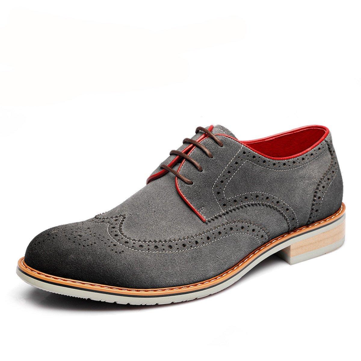 GRRONG Herren Brock Geschnitzt Tauml;gliche Beilauml;ufige Schuhe Trend-Schuhe  43|Grey
