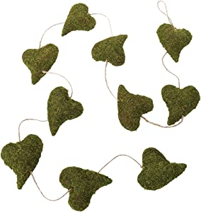 Lillian Rose Rustic Green Moss Heart Garland Wedding Decor