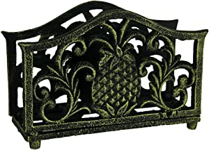 Pineapple Filigree Napkin Holder Bronzed Cast Iron