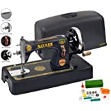 Naveen Sewing Machine Domestic Square Model with Coverset (Metallic Grey Color)-1