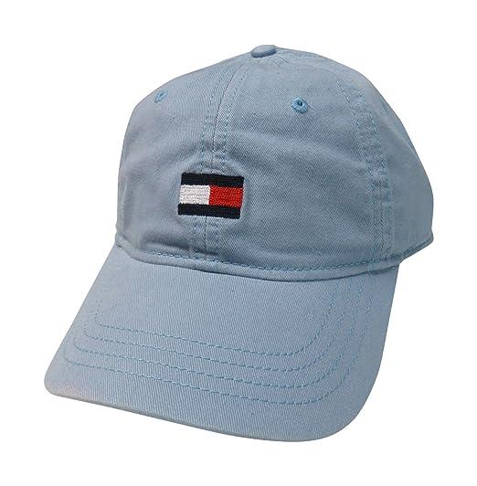 Tommy Hilfiger Men s Medium Logo Hat Ball Cap Light Blue at Amazon ... 11b92b5367f