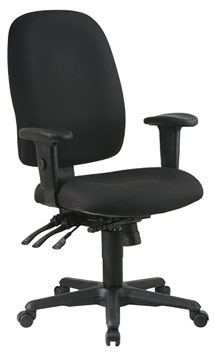 Office Star Multi Function Ergonomic Chair With Ratchet Back Height  Adjustment And Adjustable Soft Padded Arms