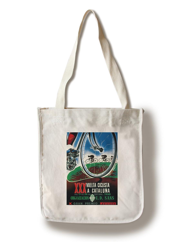 自転車レーシングプロモーションヴィンテージポスター Canvas Tote Bag LANT-41251-TT B01841LBW2  Canvas Tote Bag