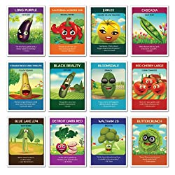 Zziggysgal 12 Heirloom Varieties of Vegetable Seeds