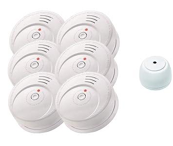 Kit de seguridad jeising GS506 g - Juego de 6 detectores de humo/Brand Detector/10 años batería kriwan EN14604, incluye detector de agua GS158: Amazon.es: ...