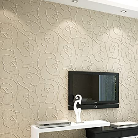 Vintage Wallpaper Damascus Embossed Textured Roll Home Decoration Flower Wall Background 3D Solid Non
