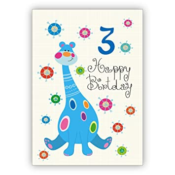 Berühmt Toller Kinder Glückwunsch als Geburtstagskarte zum 3. Geburtstag @FU_74