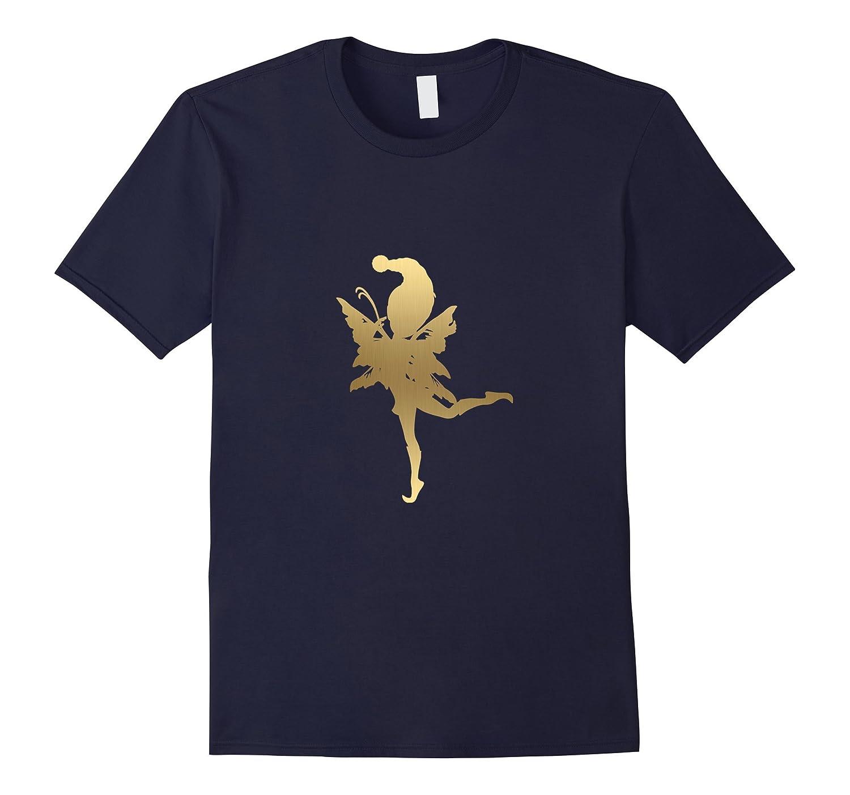 Cute Gold Golden Fairy Outline T-Shirt: Men, Women Kids Gift-ANZ