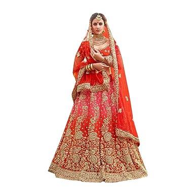 974aa8d75 Amazon.com  New Arrival Wedding Bollywood Designer Bridal Collection Heavy  Lehenga Choli Dupatta Custom to Measure Muslim Eid 950  Clothing