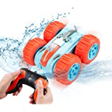 Innoo Tech Remote Control Car Waterproof Stunt Car- 2.4Ghz 4WD Off Road Water & Land Rc Cars-Double Sides Stunt Car with…