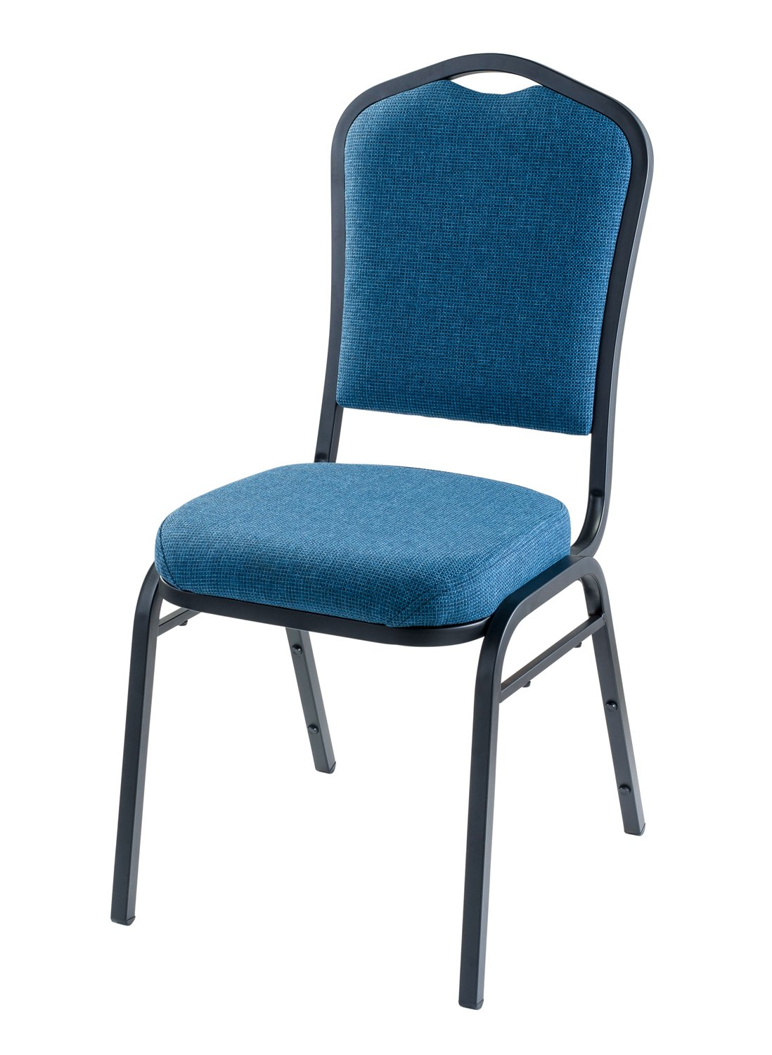 National Public Seating 9374-BT/2 9300 Ser Fabric Upholstered Stack Chair, Steel, Blue/Black (Pack of 2)