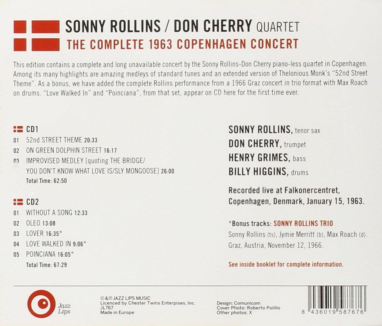 Sonny Rollins & Don Cherry - The Complete 1963 Copenhagen Concert -  Amazon.com Music