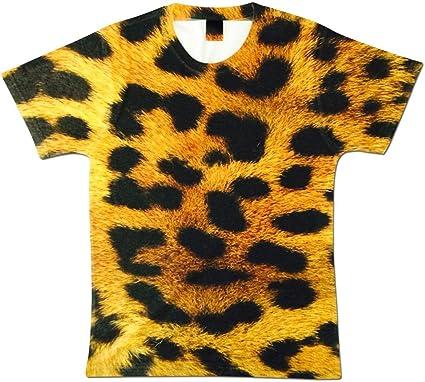 Bang Tidy Clothing Camiseta de Hombre Totalmente Estampada con Piel de Leopardo por sublimación para Vacaciones y Festivales: Amazon.es: Ropa y accesorios