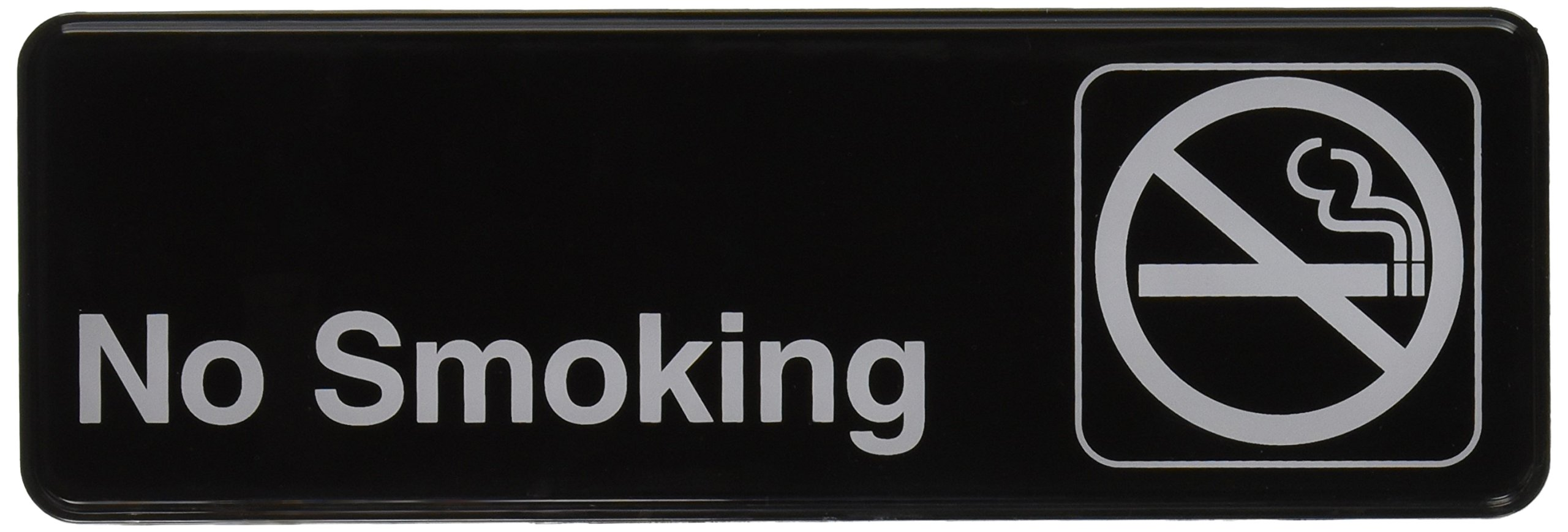Winco SGN-310 Sign, 3-Inch by 9-Inch, No Smoking
